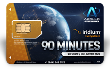 Iridium Monthly Plans 90 Monthly Minutes SIM Card - Apollo Satellite