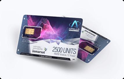 Inmarsat IsatPhone Prepaid Satellite Phone SIM Card