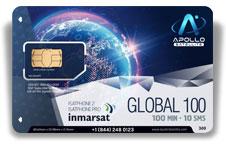 Inmarsat IsatPhone Global Monthly 100 SIM Card - Apollo Satellite