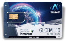 Inmarsat IsatPhone Global Monthly 10 SIM Card - Apollo Satellite