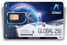 Inmarsat IsatPhone Global Monthly 250 SIM Card - Apollo Satellite