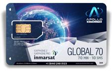 Inmarsat IsatPhone Global Monthly 70 SIM Card - Apollo Satellite