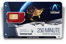 Inmarsat IsatPhone North America 250 SIM Card - Apollo Satellite