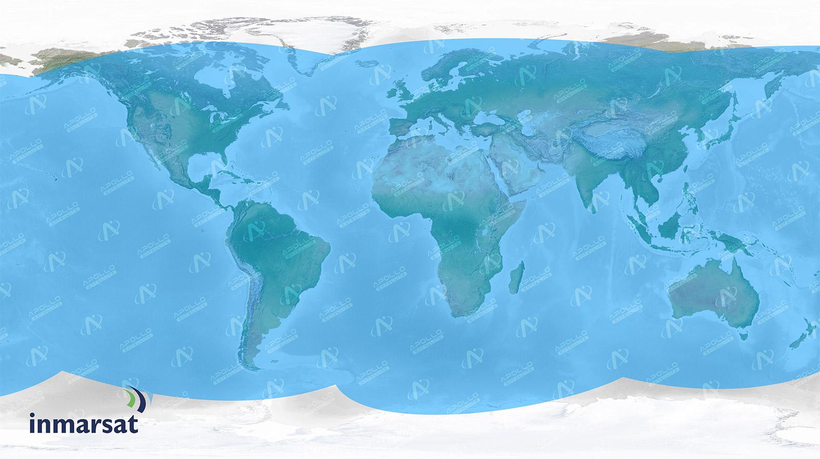 Inmarsat Satellite Coverage Map - Apollo Satellite
