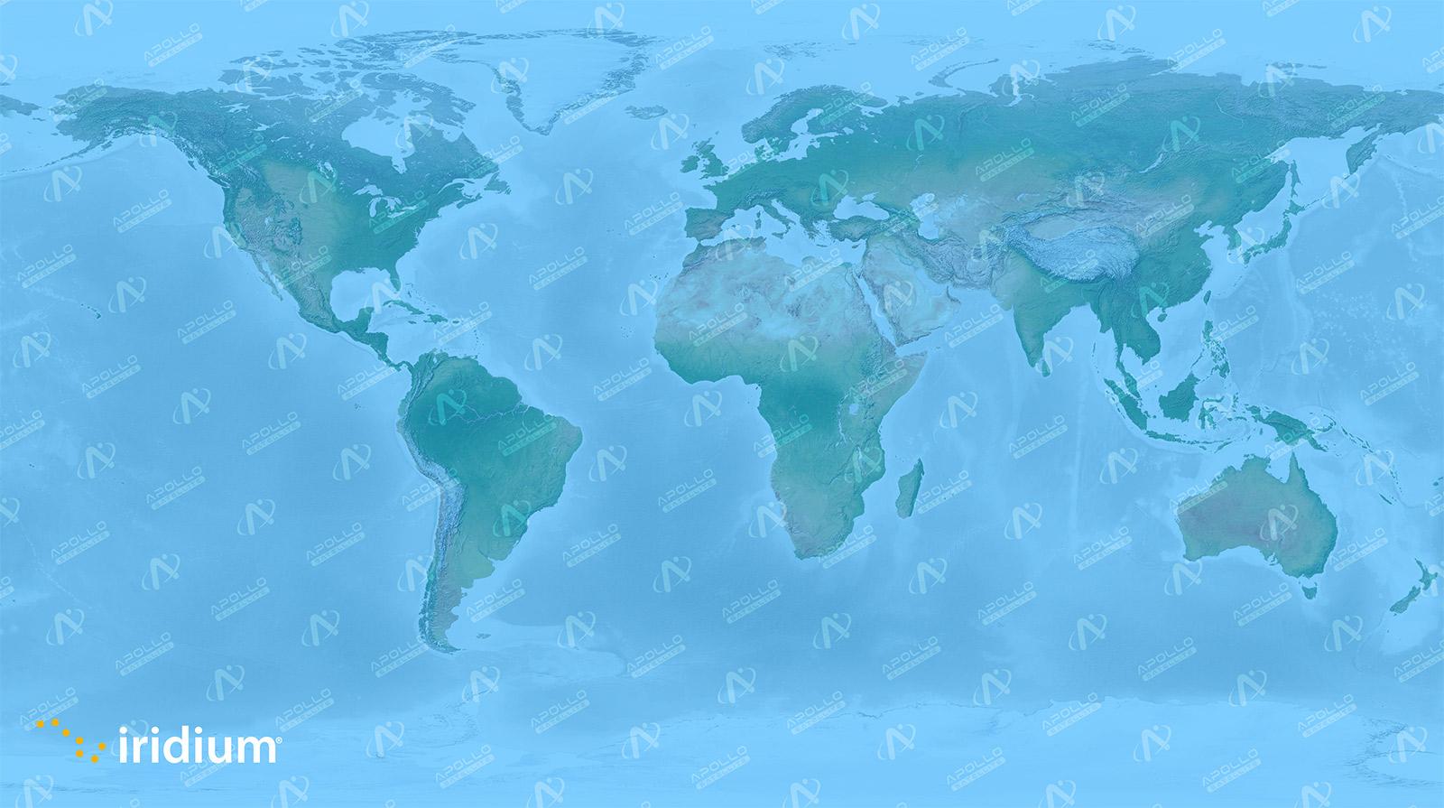 Iridium Satellite Coverage Map - Apollo Satellite