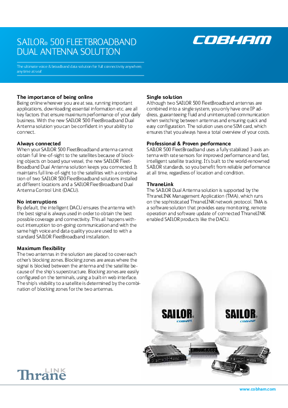 SAILOR 500 FleetBroadband Dual Antenna Solution Brochure.pdf