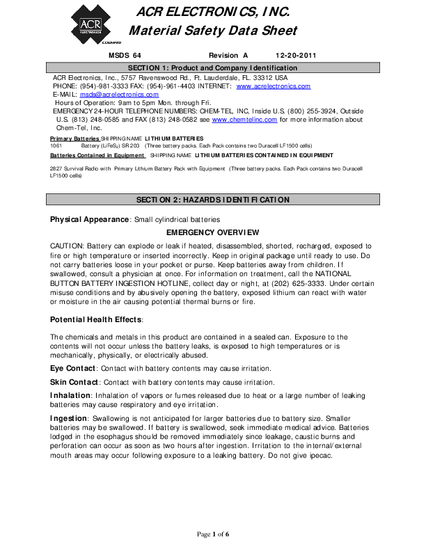 SR203VHFSurvivalRadio-LithiumBatteryMSDS.pdf