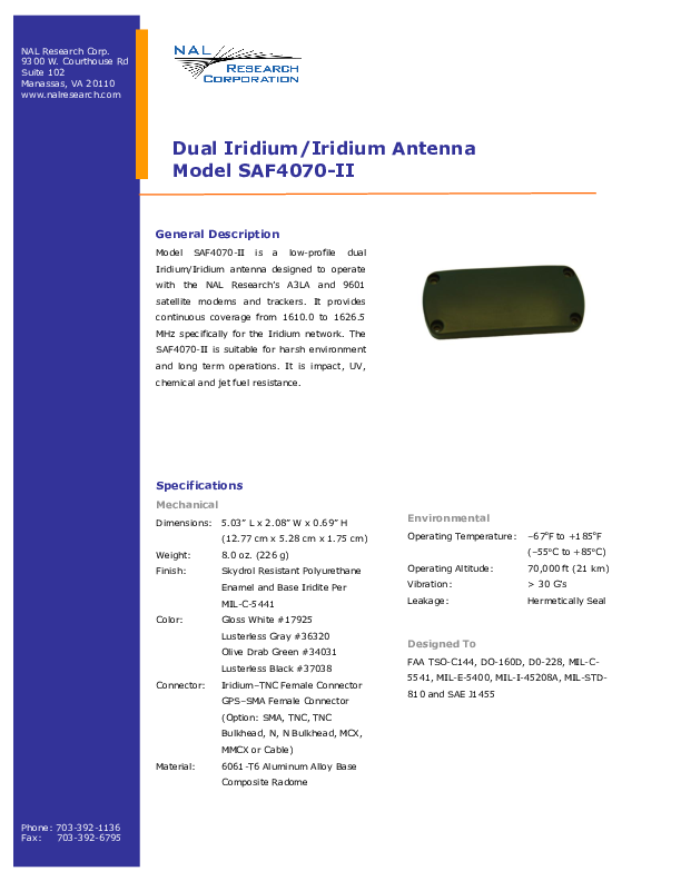 NAL-Research-SAF4070-II-Product-Information.pdf