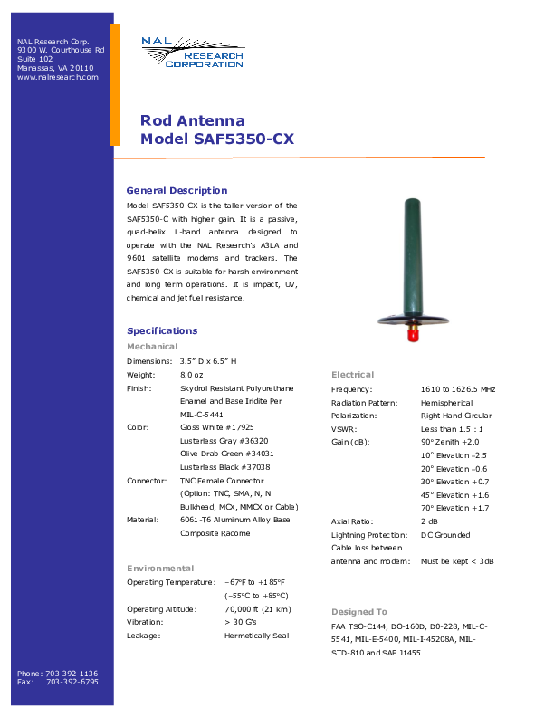 NAL-Research-SAF5350-CX-Product-Information.pdf