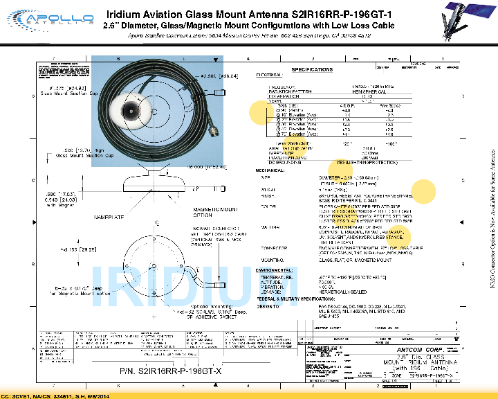 Iridium Aviation Glass Mount Antenna S2IR16RR-P-196GT-1.pdf