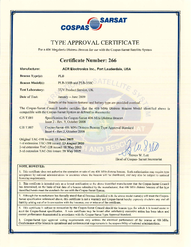 COSPAS_SARSAT_Approval.pdf
