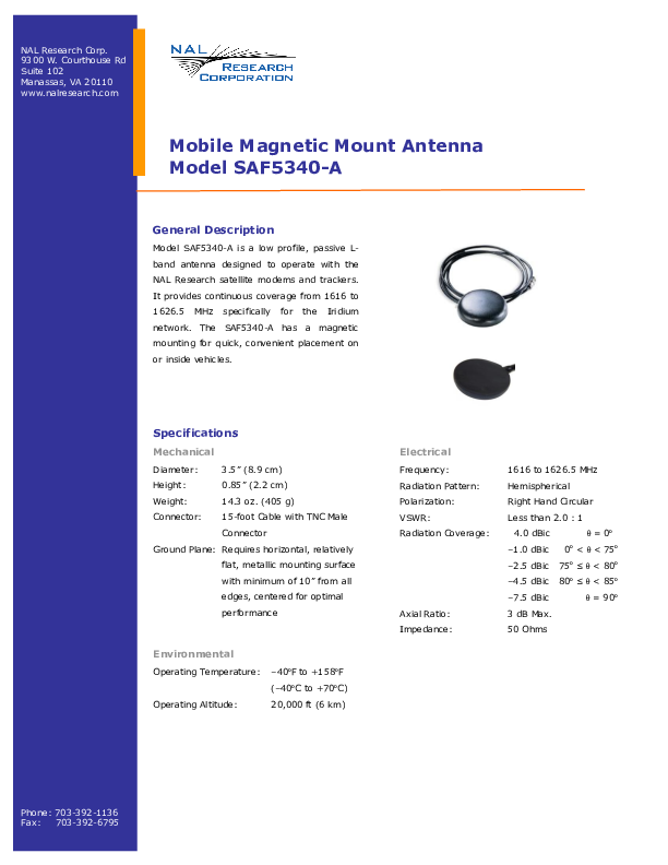 NAL-Research-SAF5340-A-Product-Information.pdf